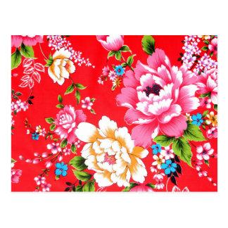 Postal Estampado de flores dinámico