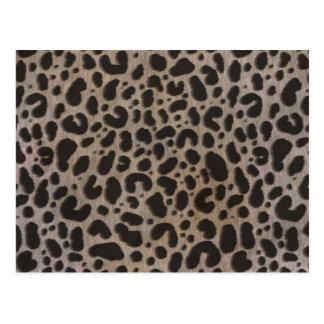Postal Estampado leopardo