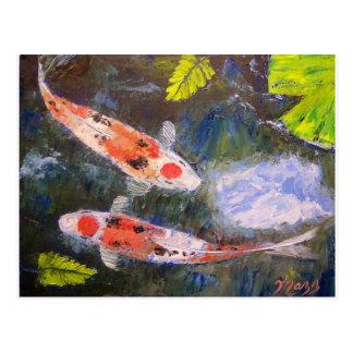 Postal Estanque de peces de Koi