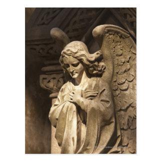 Postal Estatua con las manos cruzadas, Buenos Aires del