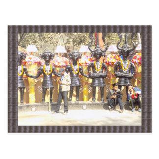 Postal Estatua cultural de la demostración de la India de