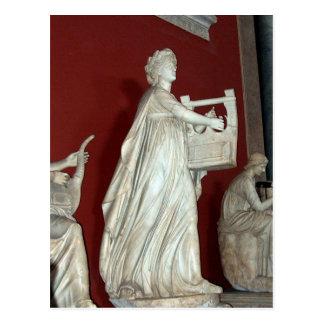 Postal Estatua de Apolo en el museo de Vatican