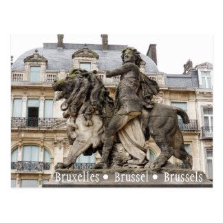 Postal Estatua de Bruselas
