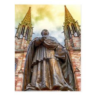 Postal Estatua de Charles-Emilio Freppel, Obernai,