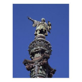 Postal Estatua de Columbus, Barcelona