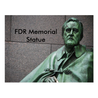 Postal Estatua de Franklin Roosevelt en el monumento del