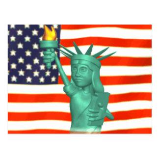 Postal Estatua de la libertad
