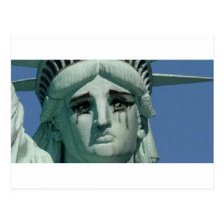 Postal Estatua de la libertad gritadora