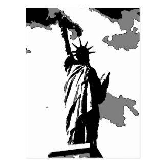 Postal Estatua de la libertad New York City