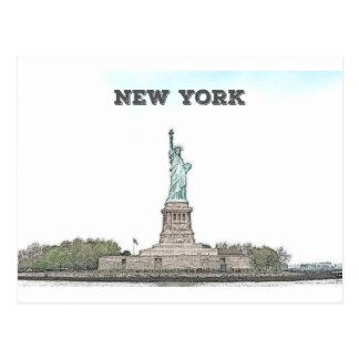Postal Estatua de la libertad - Nueva York
