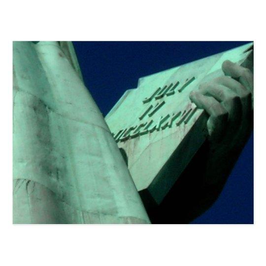 Postal Estatua de la tableta de la libertad