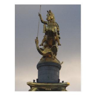 Postal Estatua de San Jorge en el cuadrado de la libertad