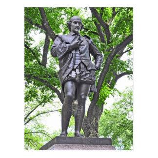 Postal Estatua de William Shakespeare en Central Park