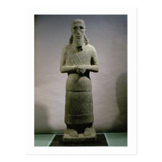 Postal Estatua dedicada a dios Haddad-Yishi (basalto)