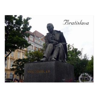 Postal estatua del hviezdoslav de Bratislava