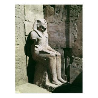 Postal Estatua del nuevo reino de Tuthmosis III