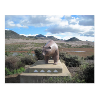 Postal Estatua del oso del Los Osos