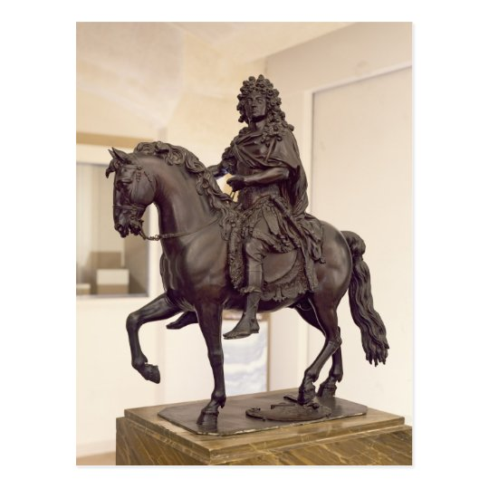 Postal Estatua ecuestre de Louis XIV