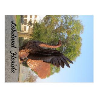 Postal Estatua Lakeland, la Florida del cisne en vuelo