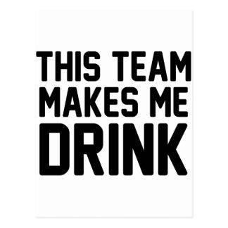 Postal Este equipo hace que bebe