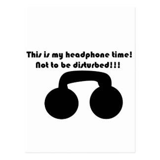 Postal ¡Éste es mi tiempo del auricular! ¡No ser