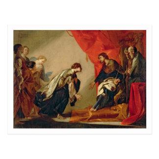 Postal Esther delante de Ahasuerus, c.1645-50 (aceite en