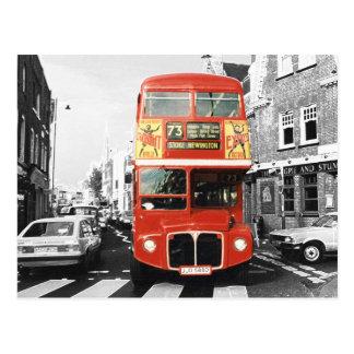 Postal Estilo de la pintura del autobús de Londres