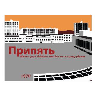 Postal Estilo de la propaganda de Prypyat