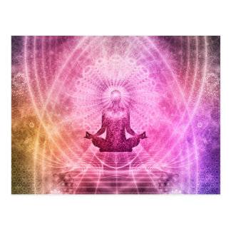 Postal Estilo de la yoga de la meditación