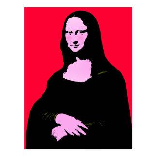 Postal Estilo del arte pop de Mona Lisa