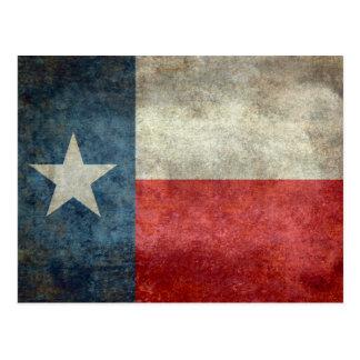 Postal Estilo retro del vintage de la bandera del estado