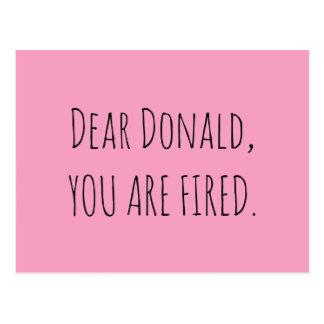 Postal Estimado Donald, le encienden