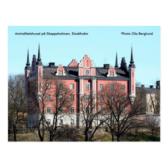 Postal Estocolmo. På Skeppsholmen de Amiralitetshuset…