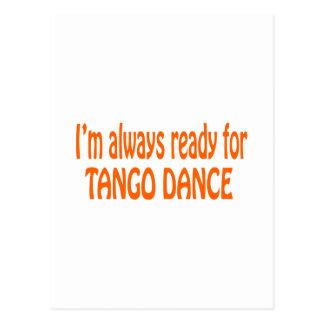 Postal Estoy siempre listo para la danza del tango