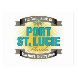 Postal Estoy volviendo (puerto Sta. Lucía)