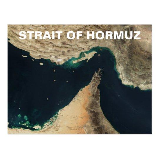 Postal Estrecho de la imagen del satélite de Hormuz