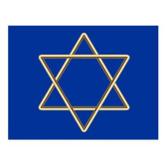 Postal Estrella de David para la barra Mitzvah o el palo