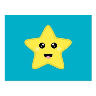 Postal Estrella de Kawaii