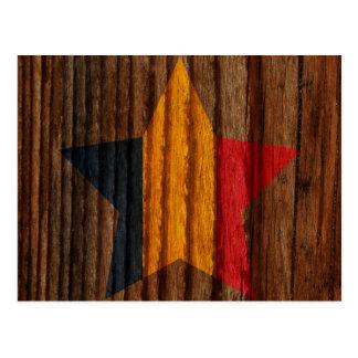 Postal Estrella de la bandera de República eo Tchad en el