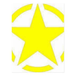 Postal estrella del ejército
