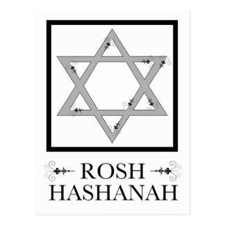 Postal estrella del hashana del rosh del flourish