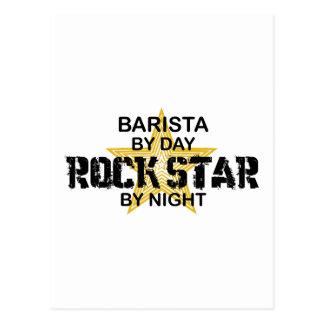 Postal Estrella del rock de Barista por noche