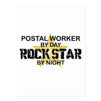 Postal Estrella del rock del empleado de correos por