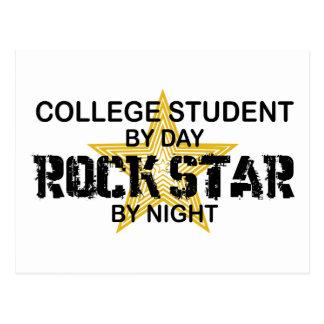 Postal Estrella del rock del estudiante universitario por