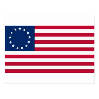 Postal Estrellas Betsy Ross de la bandera 13 de los