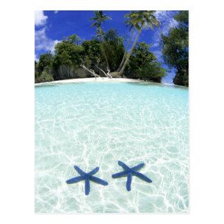 Postal Estrellas de mar, islas del rock, Palau