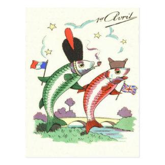 Postal Estrellas militares británicas francesas de los