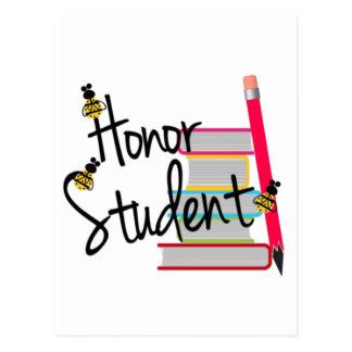 Postal Estudiante del honor