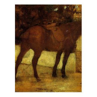Postal Estudio de caballos de Edgar Degas