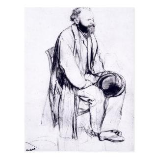 Postal Estudio de Edgar Degas el   para un retrato de